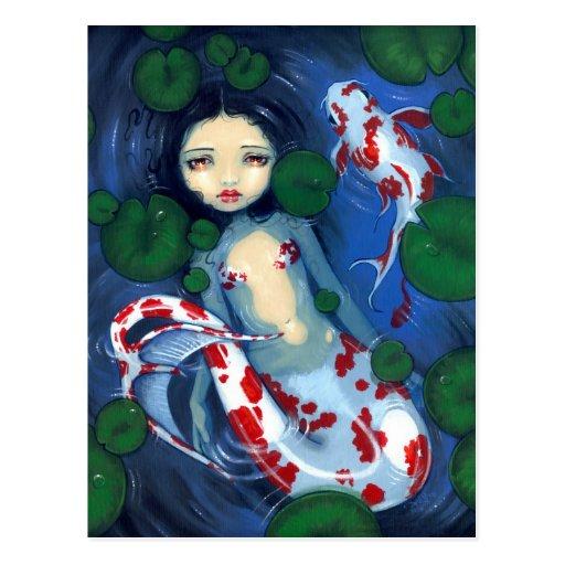 """""""Koi Pond Mermaid"""" Postcard"""