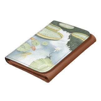 Koi Pond Reflection with Fish and Lilies Wallets
