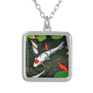 Koi Pond Silver Plated Necklace
