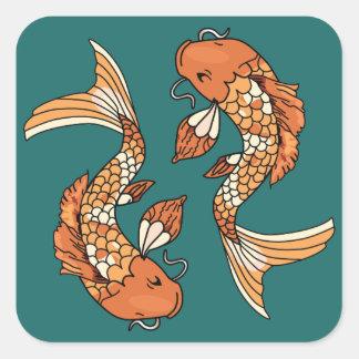 Koi Pond - Square Stickers