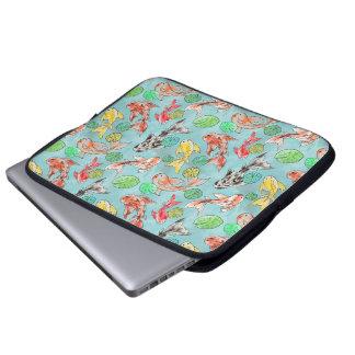 Koi pond watercolors laptop sleeve