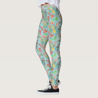 Koi pond watercolors leggings