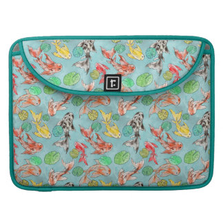 Koi pond watercolors sleeve for MacBooks