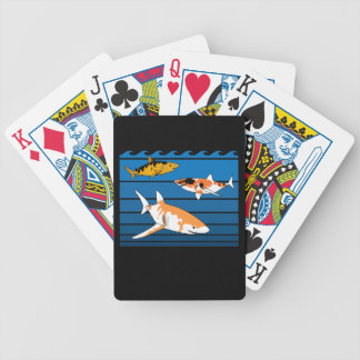 Koi Sharks Bicycle Playing Cards