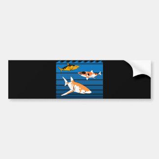 Koi Sharks Bumper Sticker