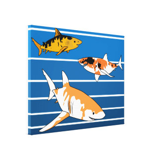 Koi Sharks Canvas Print