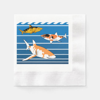 Koi Sharks Disposable Serviettes