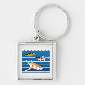 Koi Sharks Key Ring