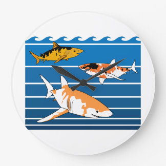 Koi Sharks Large Clock