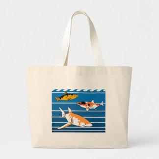 Koi Sharks Large Tote Bag
