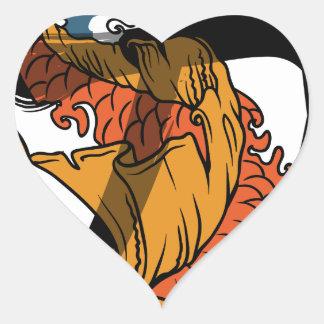Koi Strength Heart Sticker