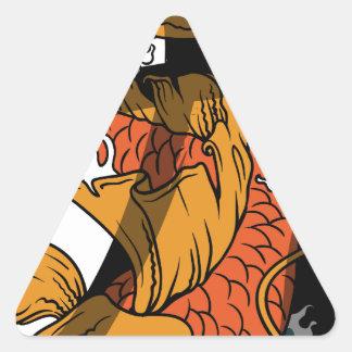 Koi Strength Triangle Sticker