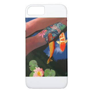 Koi Tattoo Lily Pond Phone Case
