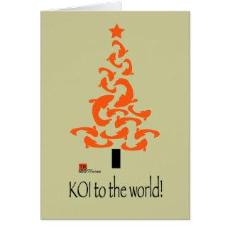 KOI to the world Christmas Greeting Card