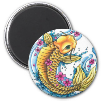 Koi with Cherry Blossoms Large Magnet