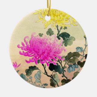Koitsu Tsuchiya Chrysanthemum japanese flowers art Ceramic Ornament