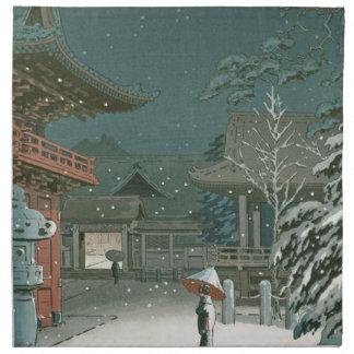 Koitsu Tsuchiya Nezu Shrine Sale Shin Hanga Art Napkin
