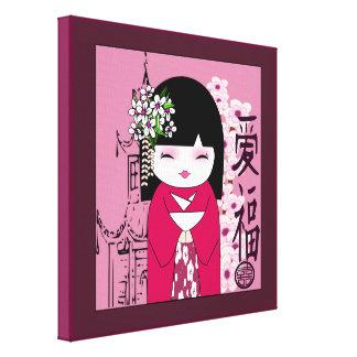 Kokeshi,こけし, Japanese dolls Canvas Prints
