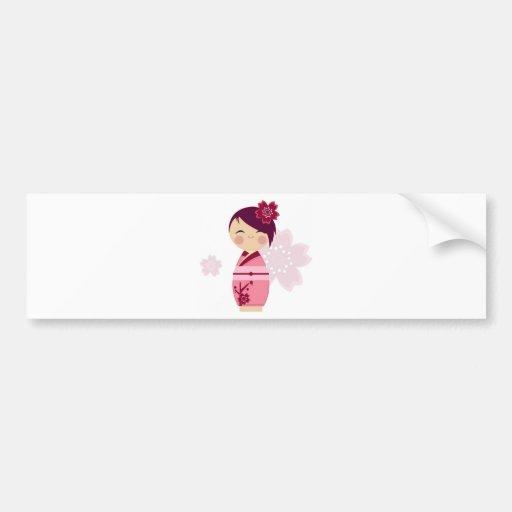 Kokeshi Bumper Stickers