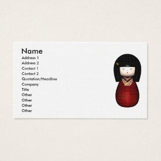 Kokeshi Doll Business Card