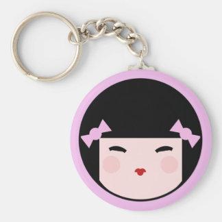 Kokeshi Doll Face Keychain