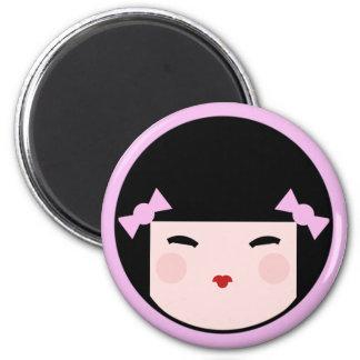 Kokeshi Doll Face Magnet