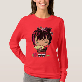 Kokeshi Doll Miao apple red shirt