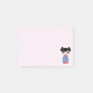 Kokeshi Doll Pink Post-it® Notes 4 x 3