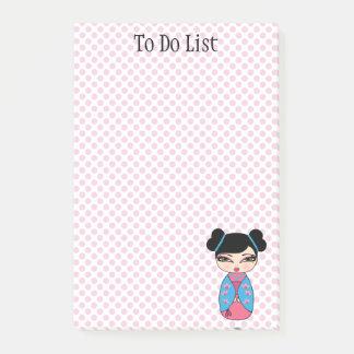 Kokeshi Doll Pink Post-it® Notes 4 x 6
