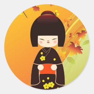 Kokeshi doll to sticker