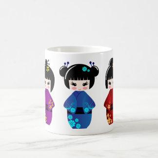 Kokeshi dolls coffee mug