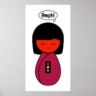 Kokeshi Girl Hmph! Poster