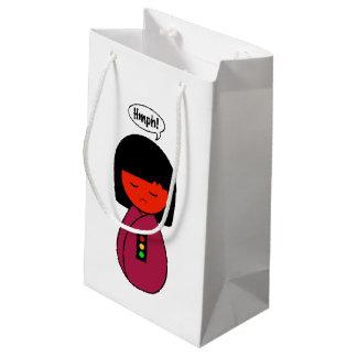 Kokeshi Girl Hmph! Small Gift Bag