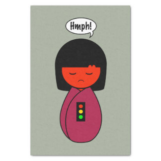 Kokeshi Girl Hmph! Tissue Paper