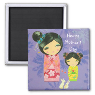 Kokeshi Love Binds Us Together Mother's Day Magnet