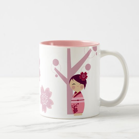 Kokeshi Sakura Mug