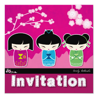 Kokeshi square Invitation