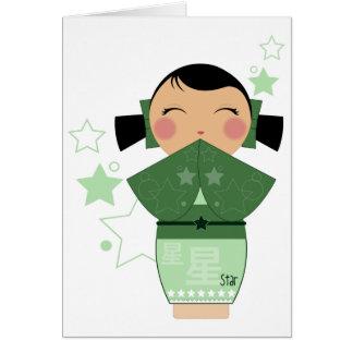 Kokeshi Star Cards