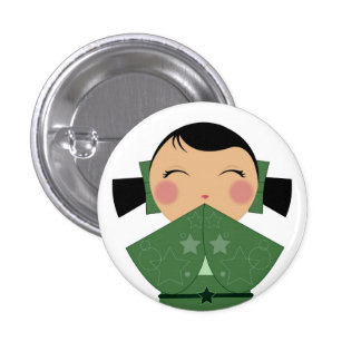 Kokeshi Star Close Up Pin 02