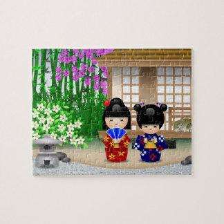 Kokeshi Teahouse Jigsaw Puzzle
