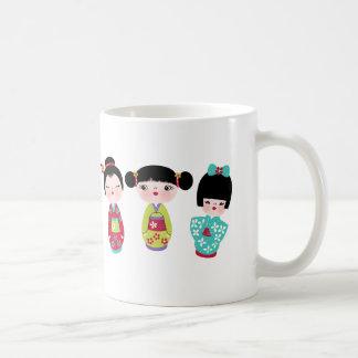 kokeshi trio mug