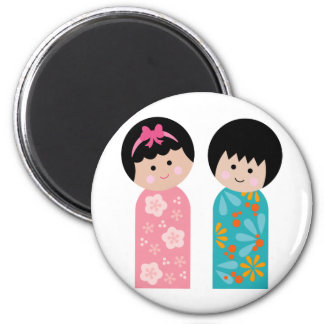 KokeshiKids2 Magnet