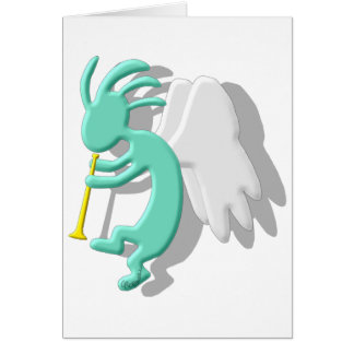 Kokopelli Angel Card