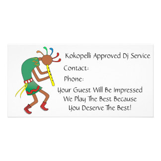 Kokopelli Approved Rocker!- Bussiness Card Photo Greeting Card