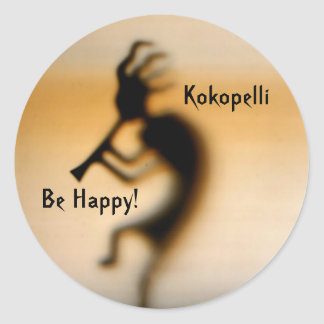 Kokopelli Be Happy Inspirational Sticker