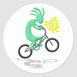Kokopelli Bicycle Classic Round Sticker