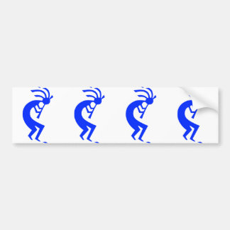 Kokopelli Blue Bumper Sticker