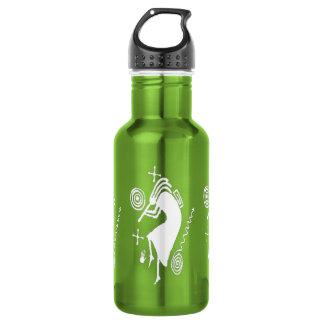 Kokopelli Carving 18oz Water Bottle