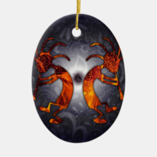 kokopelli ceramic ornament
