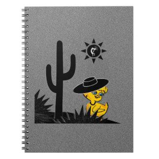 Kokopelli Chick #4 Spiral Notebooks